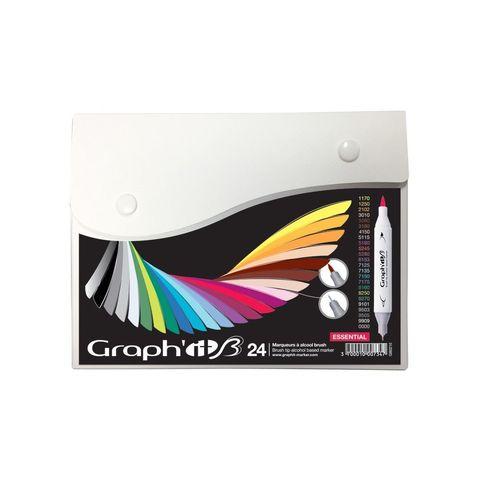Набор маркеров GRAPH'IT Brush 24шт Основные цвета