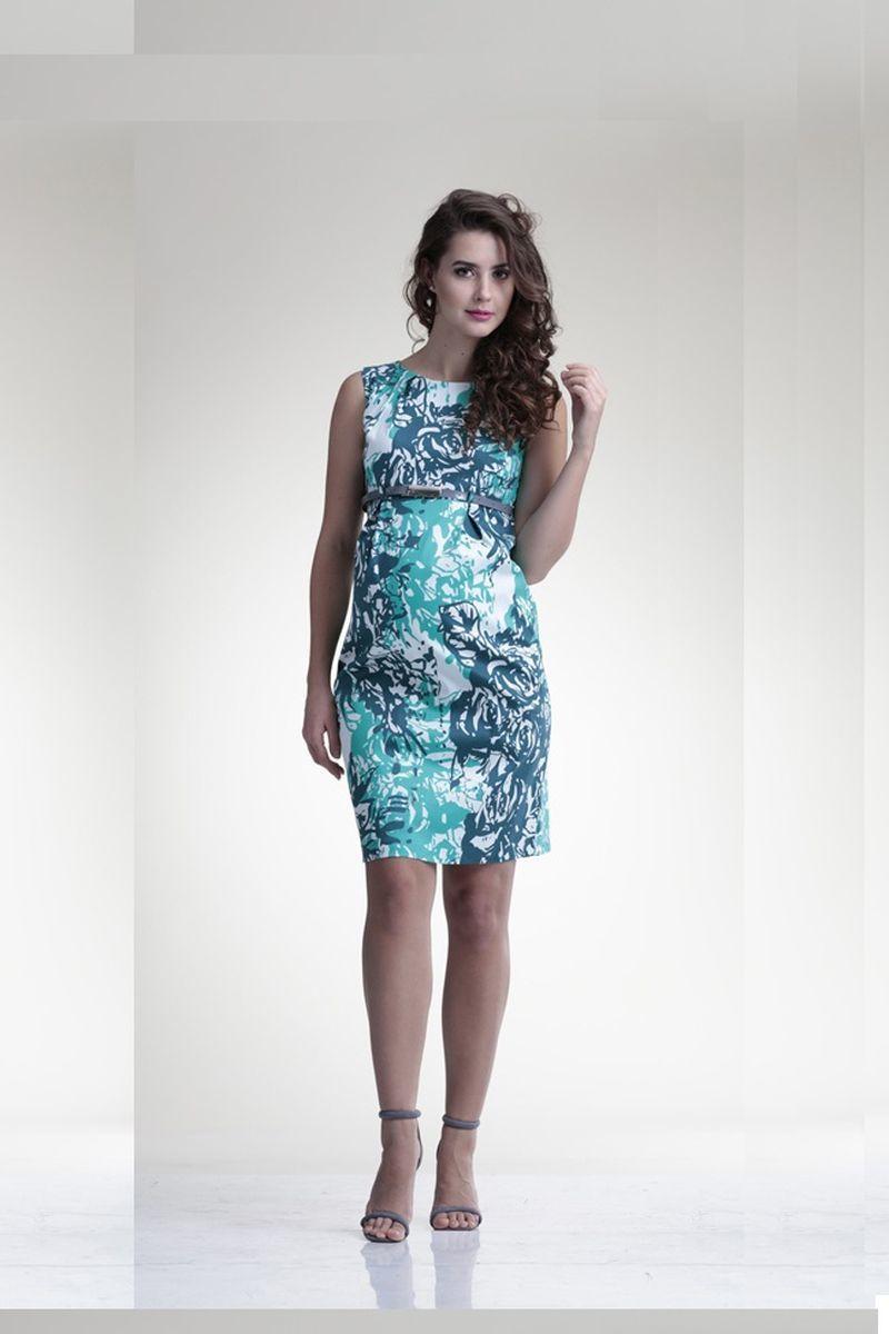Платье для беременных 06198 цветочный принт