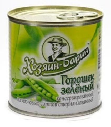 Зелёный горошек 400г. ж/б Хозяин Барин