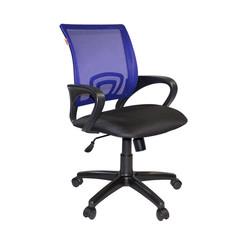 Кресло VT_EChair-304 TC Net ткань черн/сетка синяя, пластик