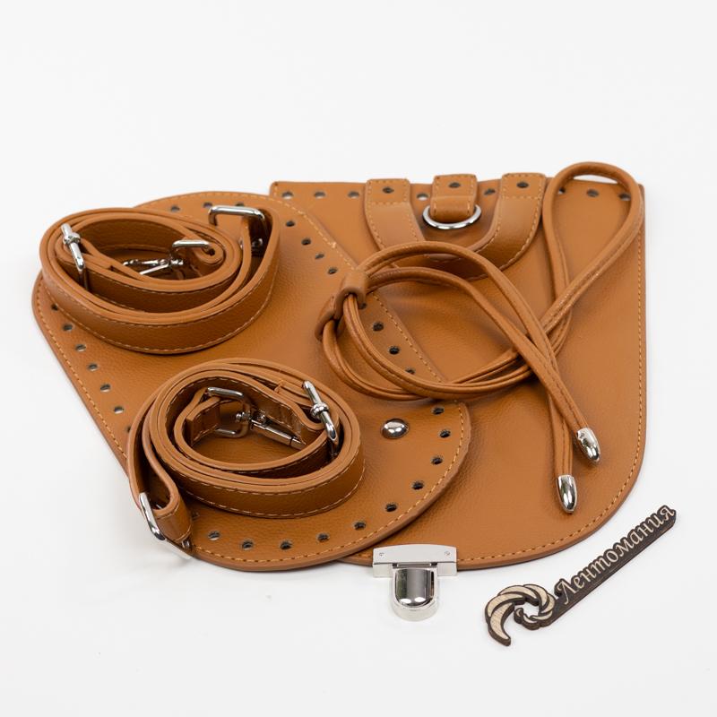 """Фурнитура из эко-кожи Комплект для рюкзачка из экокожи """"Коричневый"""" IMG_7861.jpg"""
