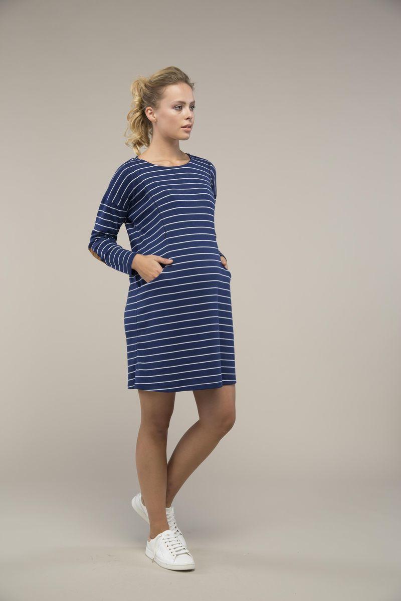 Фото платье для беременных GEBE от магазина СкороМама, синяя полоска, размеры.