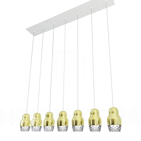 Подвесной светильник копия FEDORA 7 by AXO LIGHT  (золотой)