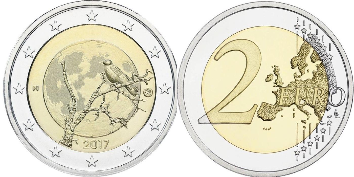 2 евро 2017 год. Финляндия. Финская природа