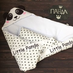 Летний конверт одеяло Панда белая
