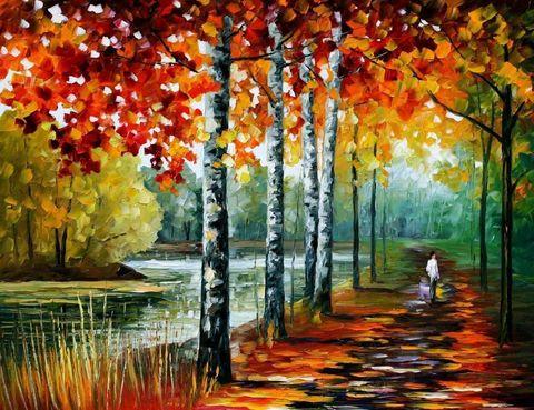 Алмазная Мозаика 30x40 Осенняя прогулка по парку (арт. GB70390)