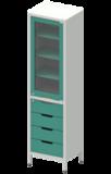 Шкаф лабораторный ШКа-1 АйЛаб Organizer (вариант 7)