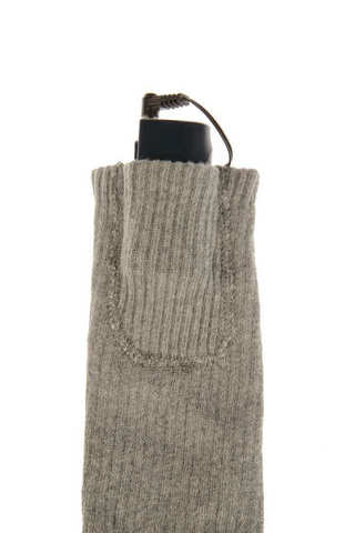 Носки с подогревом RedLaika RL-N-02 (Akk) с аккумуляторами, серые