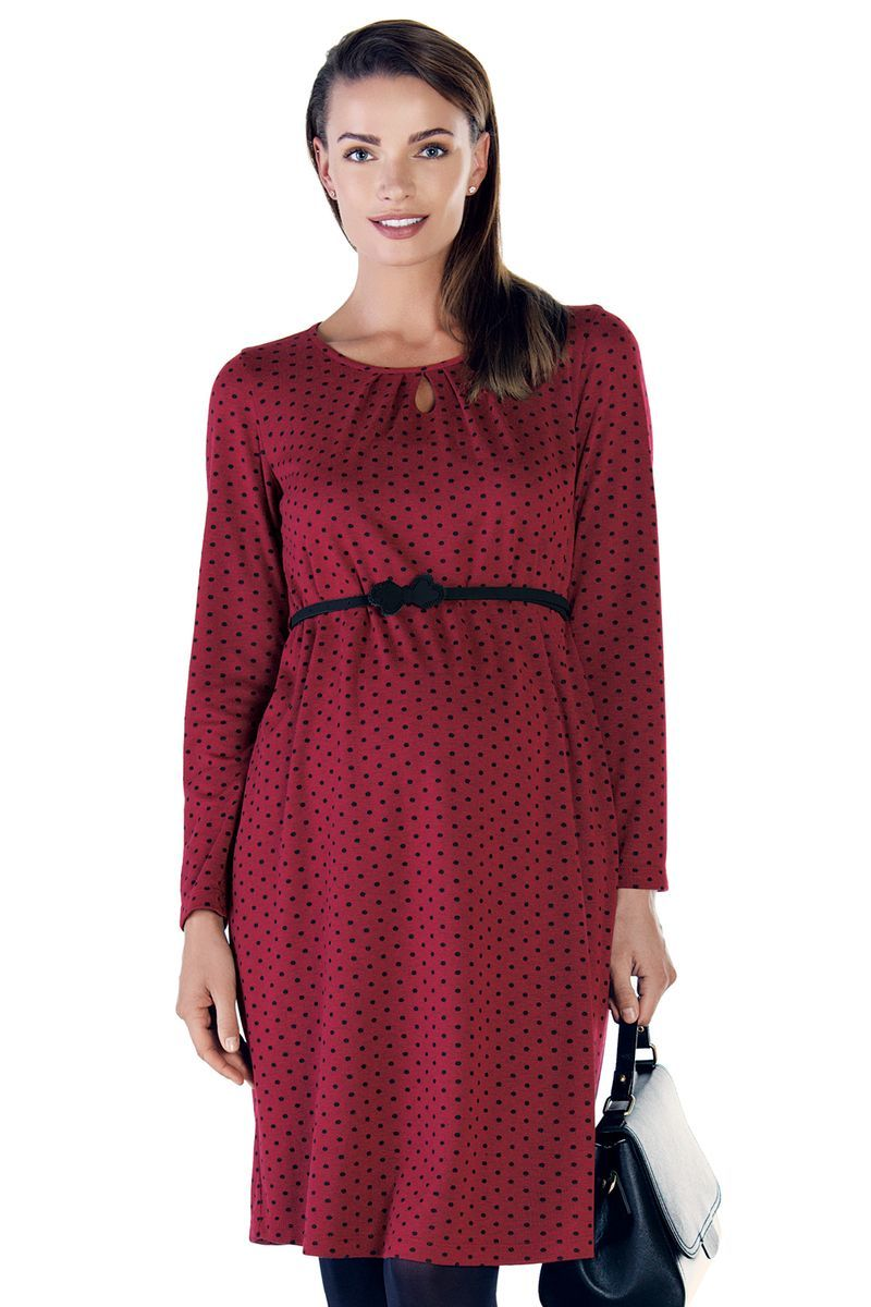 Фото платье для беременных EBRU от магазина СкороМама, красный, размеры.