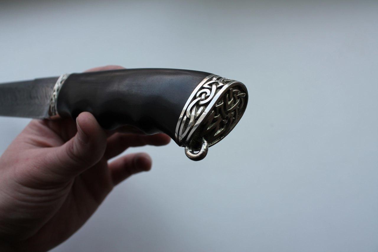 Нож Странник-2 Дамаск Торцовка Литье - фотография