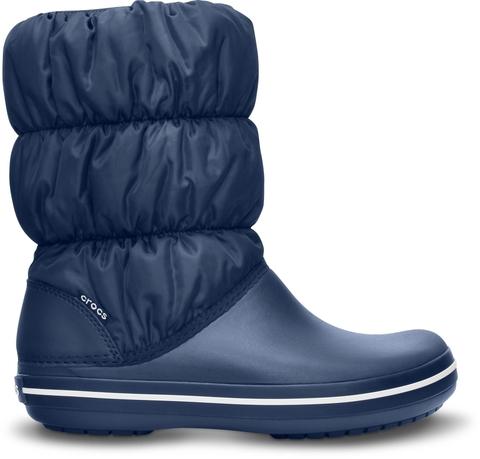 Сапоги дутики женские зимние Crocs (Крокс) Women's Winter Puff Boot Navy/Navy