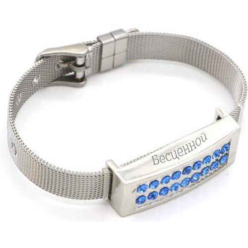 usb-флешка металлический браслет с нанесением оптом