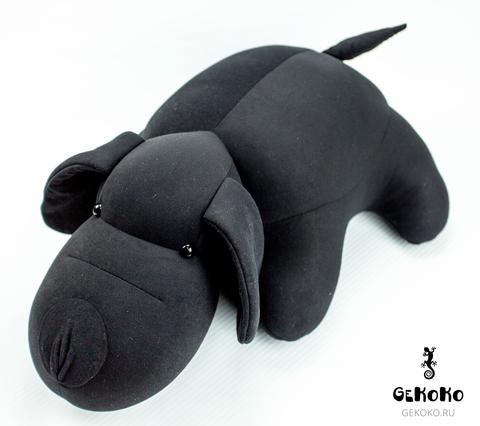 Подушка-игрушка «Мохнатый Патрик Черный»-2