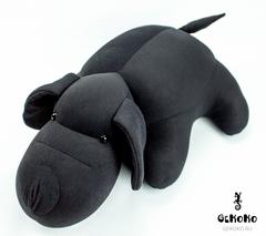 Подушка-игрушка антистресс «Мохнатый Патрик Черный» 2
