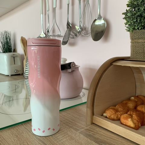 Термос Starbucks 473 ml pink /розовый/