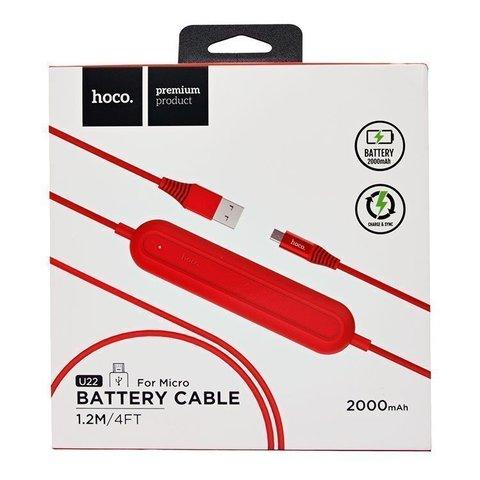 Купить кабель с Power Bank Hoco U22 Micro USB