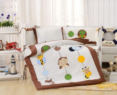 Комплект постельного белья  в кроватку с бортиком ТМ Вальтери Россия DK-26