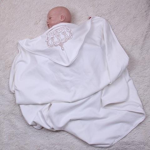 Плед для новорожденного Империя молочный