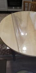 Скатерть круглая прозрачная 101 см. 2 мм.