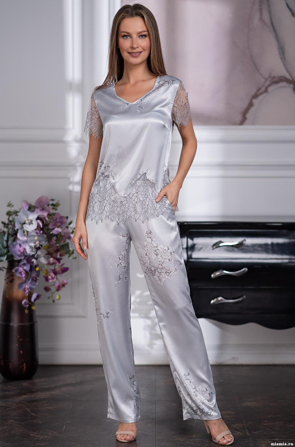 шелк натуральный Шелковый брючный комплект Mia-Amore KELLY КЕЛЛИ 3576 3576.jpg