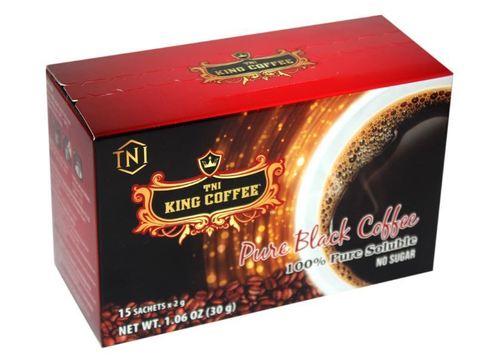 Растворимый черный кофе King Coffee Pure Black. Коробка 24х15 штук.