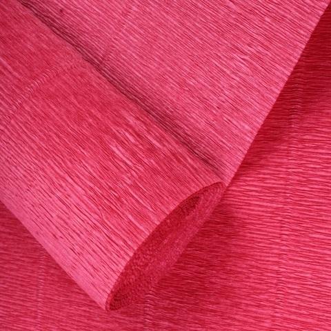 Бумага гофрированная, цвет 17А/6 красная пудра, 180г, 50х250 см, Cartotecnica Rossi (Италия)