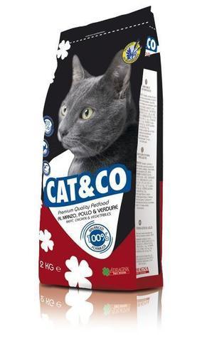 Корм для кошек Adragna Cat&Co MIX Beef, Chicken&Vegetables (2 кг) говядина и цыпленок