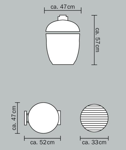 Керамический гриль Monolith Junior S малый (черный)