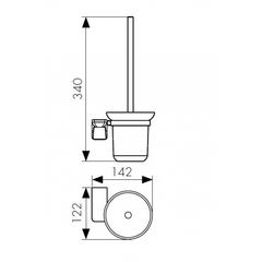 Держатель для туалетной щетки (ершик) настенный KAISER Glory BR KH-4506 схема