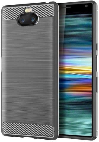 Чехол Sony Xperia 10 цвет Gray (серый), серия Carbon, Caseport