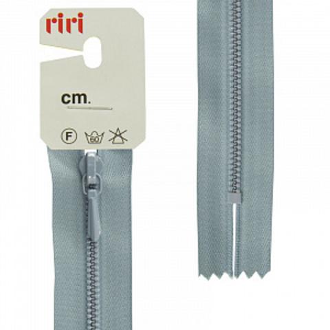 Молния металл крашеная слайдер Tropf, 3 мм , неразъемная 18 см, цвет 2119, серо-голубой светлый (арт 8351130/60/2119)