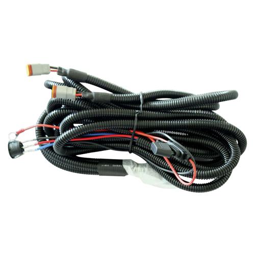 Комплект проводов с разъёмом, кнопкой, реле, предохранителем для двух фар R серии ALO-AW12