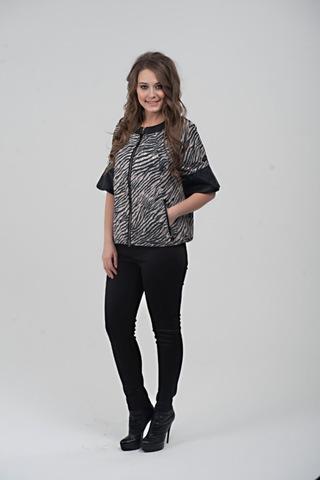 Куртка для беременных 07415 черно-белый