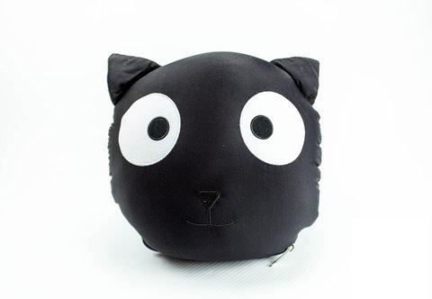Подушка-игрушка «Трансформер-подголовник черный кот»-2