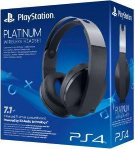 PS4 Беспроводная стереогарнитура Platinum (Black)