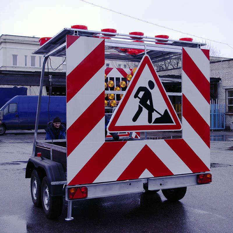 Внешний вид заградительного знака FA 1 LR