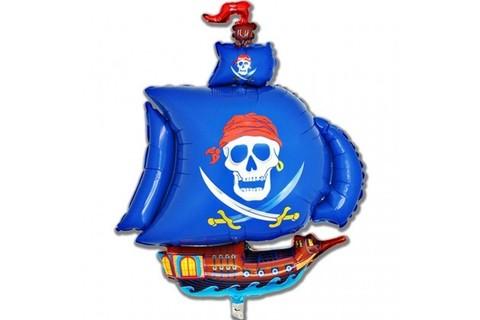 Фольгированный шар Корабль пиратский синий