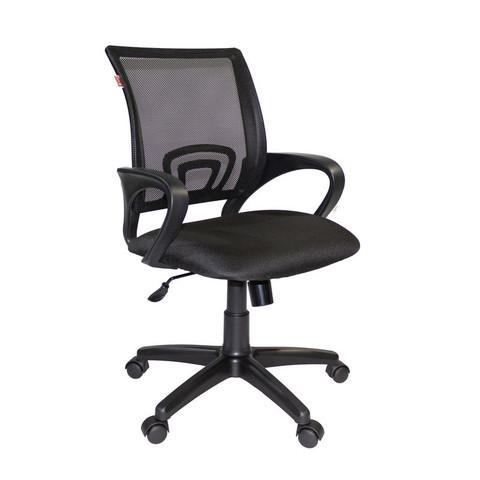 Кресло VT_EChair-304 TC Net ткань черн/сетка черн, пластик