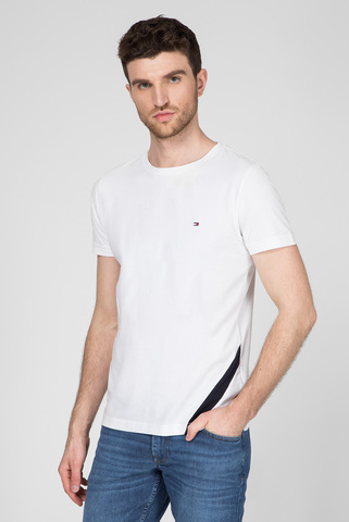 Мужская белая футболка DIAGONAL GS Tommy Hilfiger