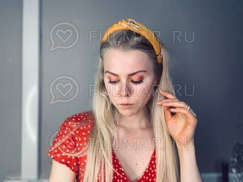 Ободок с узлом модный на голову женский