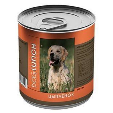 ДОГ ЛАНЧ консервы для собак (цыпленок в желе) 750г