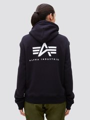 Толстовка Alpha Industries Small Logo Full-Zip Hoodie Женская (Черная)
