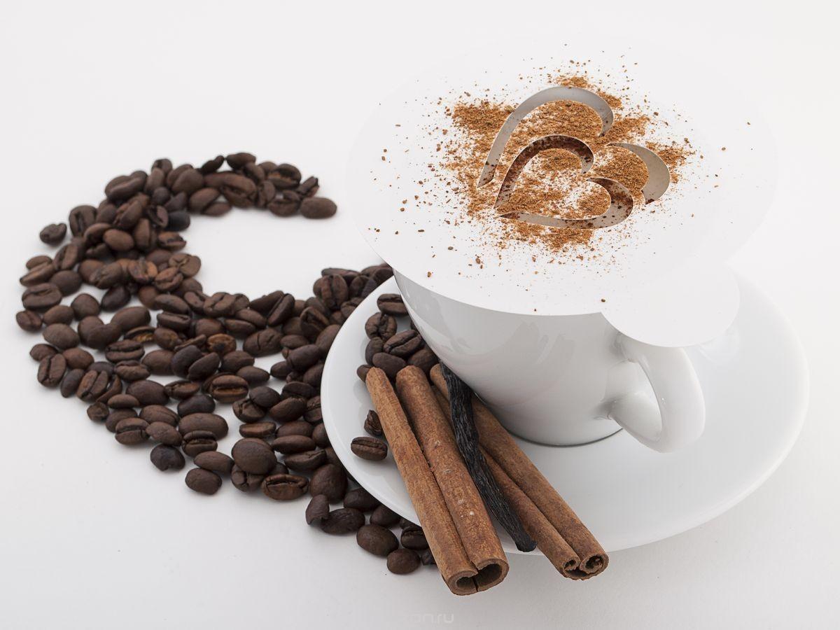 Трафарет для кофе стальной Сердечко фото