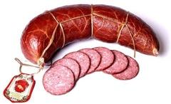 Белорусская колбаса варено-копченая