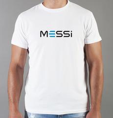 Футболка с принтом Лионель Месси (Lionel Messi) белая 007
