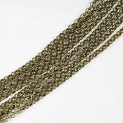 Цепь (цвет - античная бронза), звено 2 мм