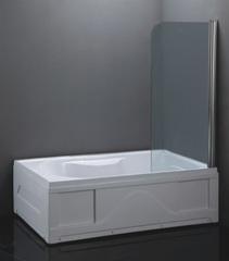 Шторка для ванныLoranto CS-702, 120x65 прозрачное стекло профиль хром