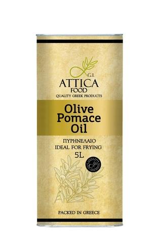 Оливковое масло для жарки помас Attica Food 5 л