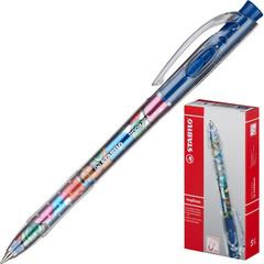 Ручка шариковая одноразовая синяя Stabilo Tropikana (толщина линии 0.3 мм)