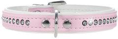 Ошейник для собак Hunter Smart Modern  Luxus 27/11 (20-23,5 см) кожзам 1 ряд страз розовый